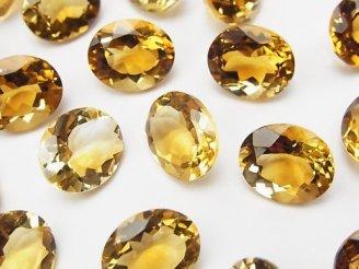 天然石卸 宝石質ブランデーシトリンAAA 穴なしオーバルファセットカット12×10mm 3粒1,580円!