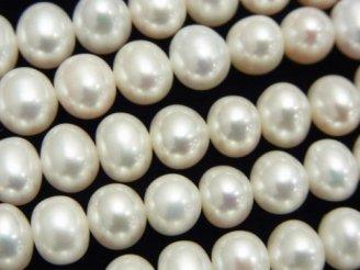 天然石卸 1連3,980円!淡水真珠AAA ポテト8〜9mm ホワイト 1連(約38cm)