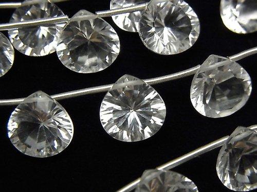 宝石質クリスタルAAA マロン コンケーブカット10×10mm 半連/1連(8粒)