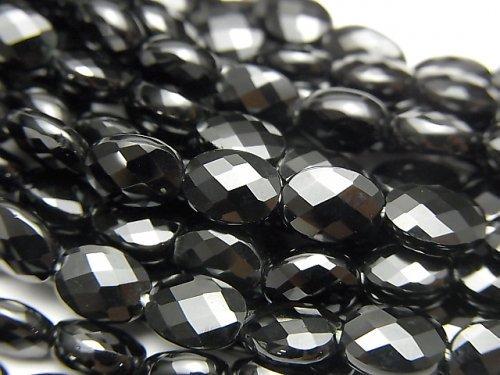 宝石質ブラックスピネルAAA オーバルカット7×5×3mm 半連/1連(約37cm)