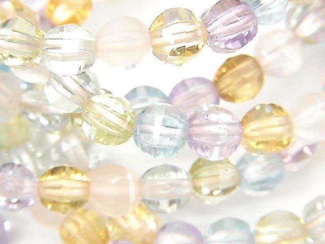 宝石質いろんな天然石AAA ミラーラウンドカット6mm 1連(ブレス)