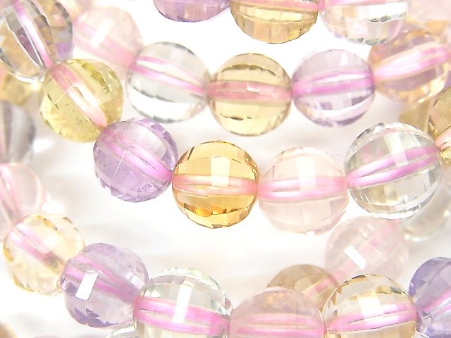 宝石質いろんな天然石AAA ミラーラウンドカット8mm 1連(ブレス)
