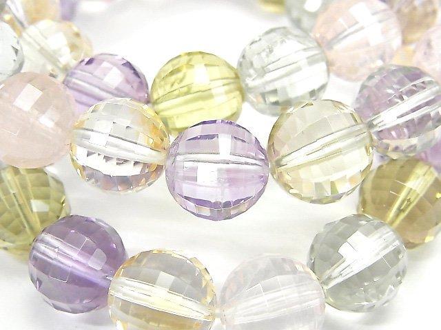 宝石質いろんな天然石AAA ミラーラウンドカット10mm 1連(ブレス)
