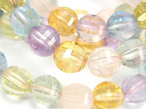 【動画】宝石質いろんな天然石AAA ミラーラウンドカット10mm 1連(ブレス)
