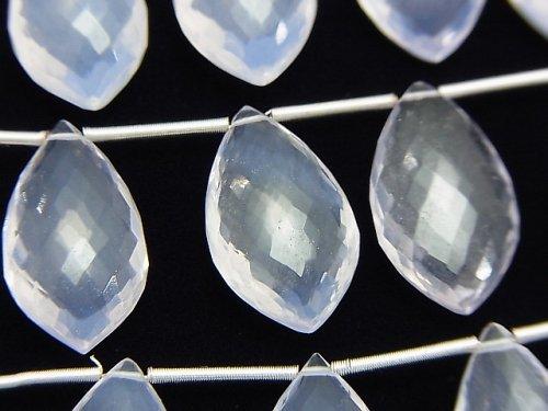 【極上カット】宝石質スコロライトAAA- マーキス ブリオレットカット 1連(5粒)