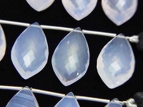【極上カット】宝石質スコロライトAAA マーキス ブリオレットカット 1連(5粒)