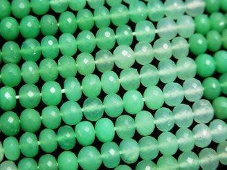 天然石卸 極上カット!宝石質クリソプレーズAAA++ ボタンカット 1/4連〜1連(約38cm)