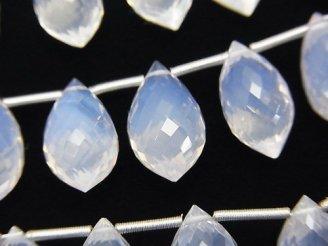 天然石卸 極上カット!宝石質スコロライトAAA マーキスライス ブリオレットカット 1連(5粒)