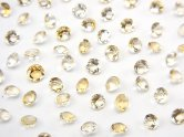 天然石卸 宝石質ライトカラーシトリンAAA 穴なしブリリアントカット3×3×2mm 100粒780円!