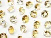 天然石卸 宝石質シトリンAAA 穴なしブリリアントカット5×5×3mm 10粒480円!