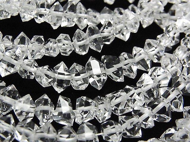 NY産ハーキマーダイヤモンドAAA ラフロック 【Lサイズ】 1連(約15cm)