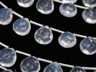 天然石卸 極上カット!宝石質スコロライトAAA マロン ブリオレットカット 【Sサイズ】 1連(10粒)