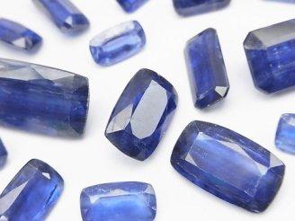 天然石卸 宝石質カイヤナイトAAA- レクタングルファセットカット 5粒3,980円!