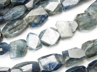 天然石卸 カイヤナイトAA+ タンブルカット 半連/1連(約37cm)