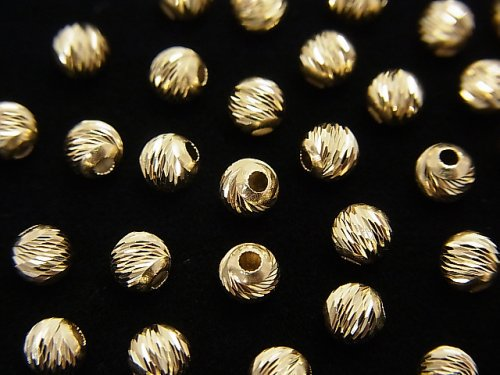 【K14 Yellow Gold】 マルチラウンドカット【2mm】【2.5mm】【3mm】【4mm】 3粒