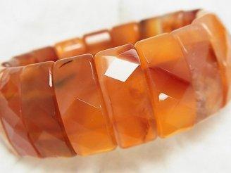天然石卸 1連1,980円!カーネリアンAA++ 2つ穴縦長レクタングルカット25×11×8mm 1連(ブレス)