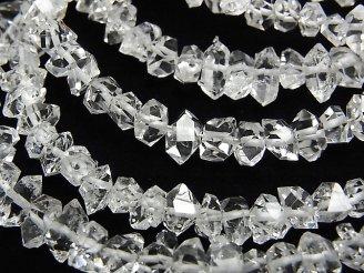 天然石卸 1連4,980円!NY産ハーキマーダイヤモンドAAA ラフロック 【M〜Lサイズ】 1連(約15cm)