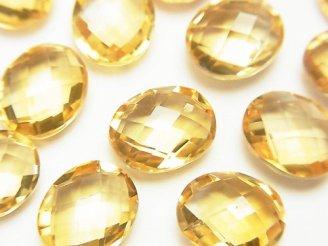天然石卸 宝石質シトリンAAA 穴なしオーバルクッションカット11×8mm 3粒880円!
