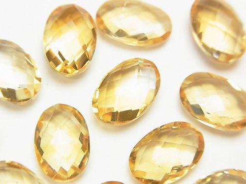 【動画】宝石質シトリンAAA 穴なしオーバルクッションカット12×8mm 3粒