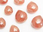 天然石卸 粒売り!極上カット!宝石質ペルー産インカローズAAA-〜AA++ マロン ブリオレットカット 3粒