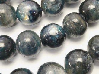 天然石卸 ケニア産カイヤナイトAAA- 大粒ラウンド12mm 1/4連〜1連(約38cm)