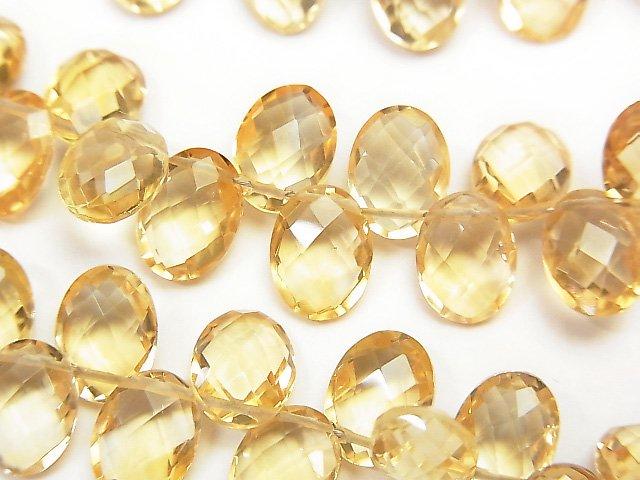 宝石質シトリンAAA 横穴オーバルカット8×6×4mm 半連/1連(約17cm)