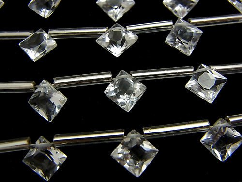 宝石質クリスタルAAA ダイヤ プリンセスカット8×8mm 1連(8粒)