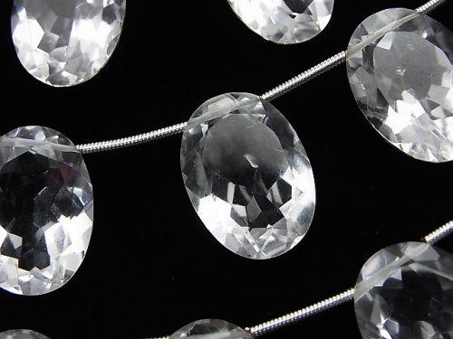 宝石質クリスタルAAA オーバルファセットカット18×13×7mm 半連/1連(8粒)