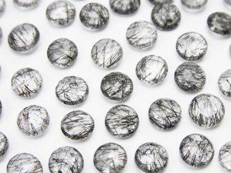 天然石卸 スリランカ産宝石質トルマリンクォーツAAA- 穴なし ラウンド型ローズカット(両面カット)6×6mm 10粒680円!