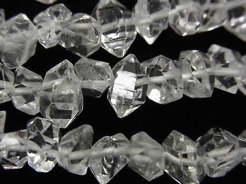 NY産ハーキマーダイヤモンドAAA ラフロック 【Mサイズ】 1/4連〜1連(約38cm)