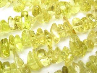 天然石卸 1連1,380円!レモンクォーツAAA チップ(ミニタンブル) 1連(約88cm)