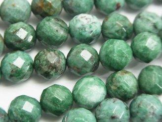 天然石卸 グリーンドラゴンブラッドジャスパー 64面ラウンドカット10mm 半連/1連(約38cm)