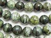 天然石卸 ブラジル産サーペンティン ラウンド10mm 半連/1連(約37cm)