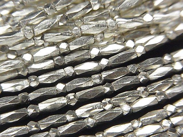 カレンシルバー カット入りチューブ5×2×2mm 1/4連〜1連(約68cm)