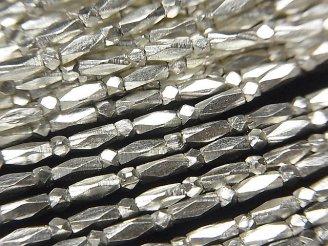天然石卸 カレンシルバー カット入りチューブ5×2×2mm 1/4連〜1連(約68cm)