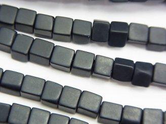 天然石卸 フロストオニキス キューブ4×4×4mm 半連/1連(約37cm)
