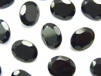 天然石卸 宝石質ブラックスピネルAAA 穴なしオーバルファセットカット12×10mm 5粒1,380円!