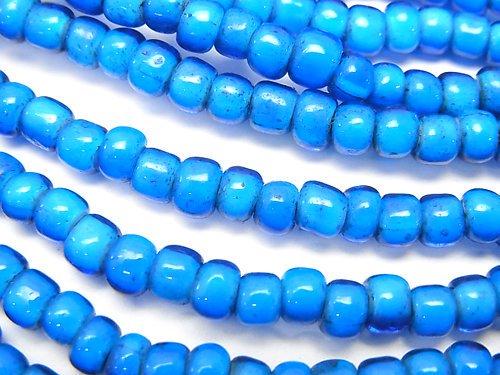 ホワイトハーツビーズ5×5×4mm 【ブルー】 1連(約62cm)