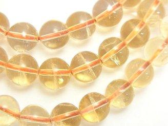 天然石卸 1連980円!ライトカラーシトリンAA++ ラウンド8mm 1連(ブレス)
