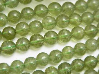天然石卸 ◆SALE◆1連3,980円!高品質グリーンアパタイトAAA-〜AA++ ラウンド6〜7mm 1連(約37cm)