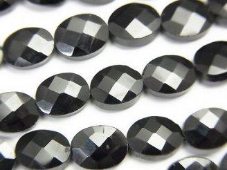 天然石卸 ◆特価◆1連1,280円〜!宝石質ブラックスピネルAAA' オーバルカット 1連(約32cm)