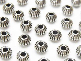 天然石卸 Silver925 ロンデル(ソロバン)6×6×4mm 2個380円!
