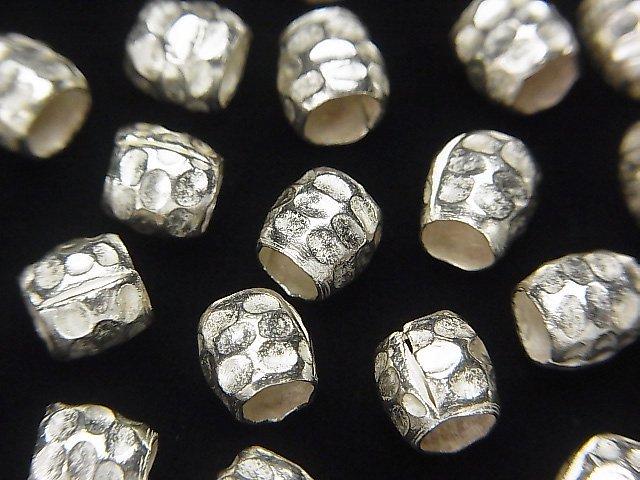 カレンシルバー ロンデル6×6×6mm ホワイトシルバー 4粒
