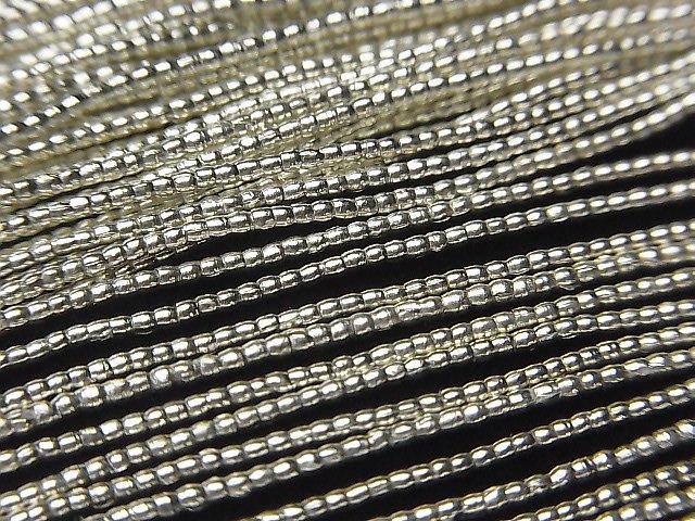 カレンシルバー チューブ1.2×1.2×1.2mm ホワイトシルバー 半連/1連(約68cm)