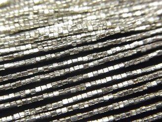 天然石卸 カレンシルバー キューブ1×1×1mm ホワイトシルバー 半連/1連(約68cm)