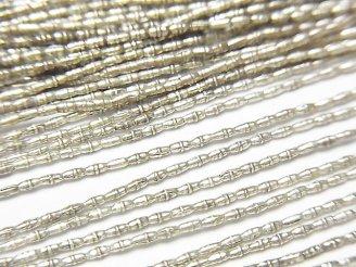 天然石卸 1連980円!カレンシルバー 模様入りチューブ2×0.7×0.7mm 1連(約67cm)