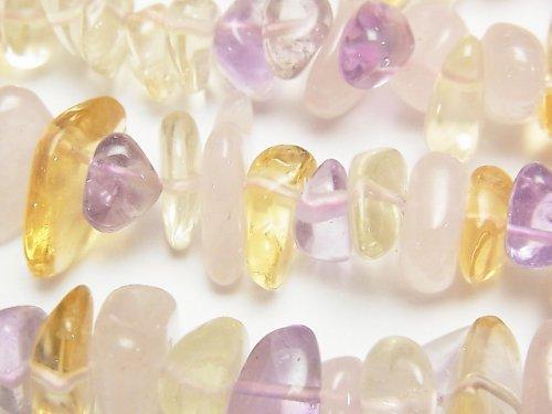 宝石質いろんな天然石AAA- 大粒チップ(タンブル) 1連(約37cm)