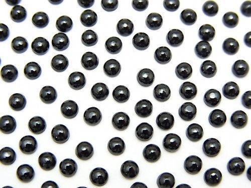 宝石質ブラックスピネルAAA ラウンド カボション3×3mm 10個