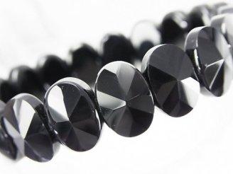 天然石卸 1連1,380円!オニキス 2つ穴オーバルカット14×10×6mm 1連(ブレス)