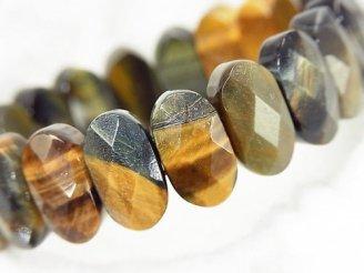 天然石卸 1連1,180円!ミックスタイガーアイAAA- 2つ穴オーバルカット15×8×6mm 1連(ブレス)
